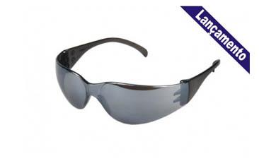 Óculos Leopardo Espelhado – Cinza e Incolor – Kalipso
