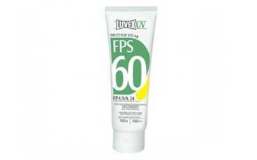 Protetor Solar Luvex UV FPS 60 Bisnaga 120ml/g