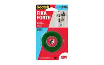 FITA FIXA FORTE TRANSP. 19mm x 2mm   3M