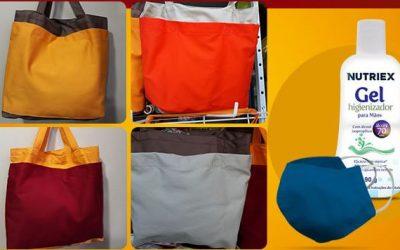 Conheça as opções de bolsa tiracolo bicolor com kit higiênico da Rodec Amado