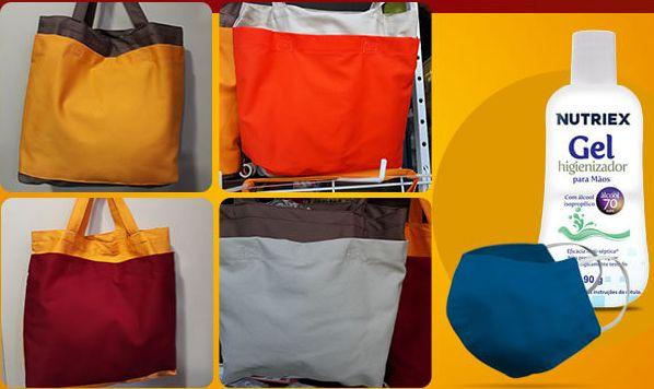 Bolsa tiracolo bicolor eBolsa tiracolo bicolor com kit
